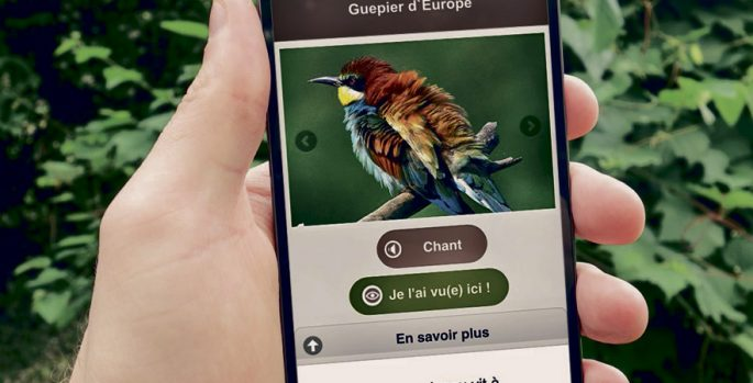 application mobile, naturaliste