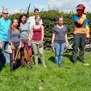 Equipe bénévoles - mare Peugny